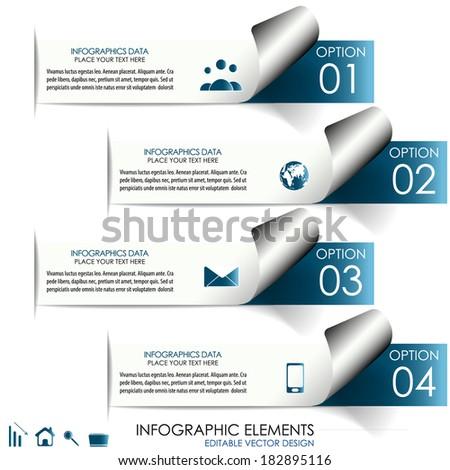 Modern infographic option banner/Design for diagram, workflow layout, web design or working presentation  - stock vector