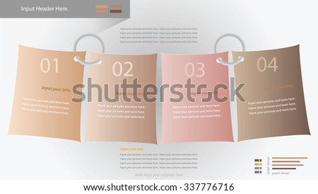 Modern infographic options banner. Vector illustration. can be used for workflow layout, diagram, number options, web design. - stock vector