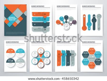 Set Infographic Design Templates Brochure Design Stock Vector ...