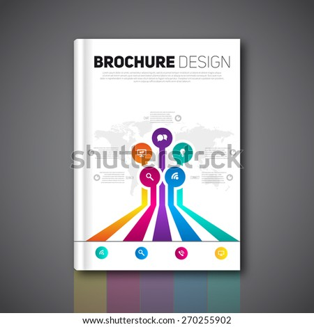 Modern infographics abstract brochure, report for business or flyer design template, Vector  - stock vector