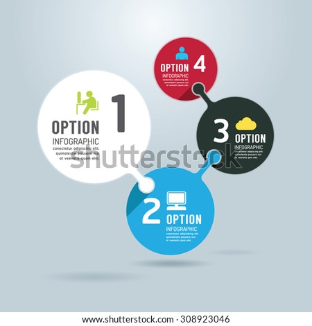 Modern infographics design options banner. Vector illustration. can be used for work flow layout, diagram, number options, graphic or website layout vector - stock vector