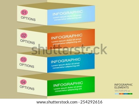Modern infographics options banner. Vector illustration. can be used for workflow layout, diagram, number options, web design - stock vector