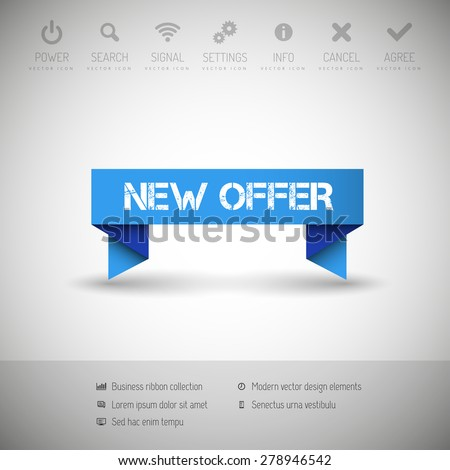 Modern infographics options banner. Vector illustration for web design or print. - stock vector