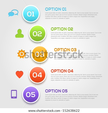 Modern infographics options template. Vector illustration.  - stock vector