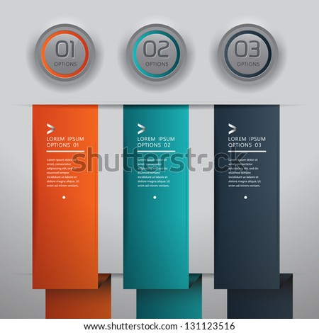 Modern infographics origami style step up options banner. Vector illustration. can be used for workflow layout, diagram, number options, web design, infographics. - stock vector