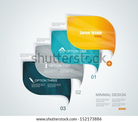 Modern infographics template style. Can be used for workflow layout, diagram, number options, step up options, web design, banner template.  - stock vector