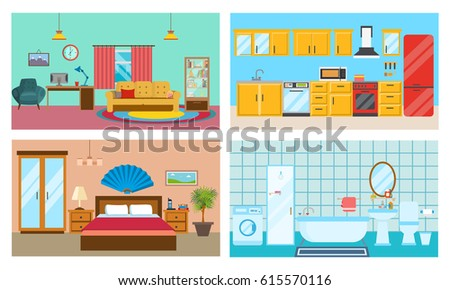 Modern Interior Of Rooms Living Room With And Decor Kitchen Furniture