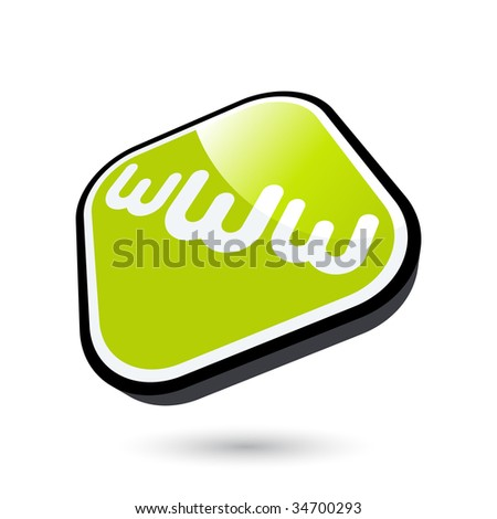 modern internet sign - stock vector