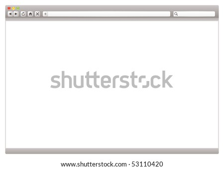 Modern internet web browser with room to add your own page - stock vector