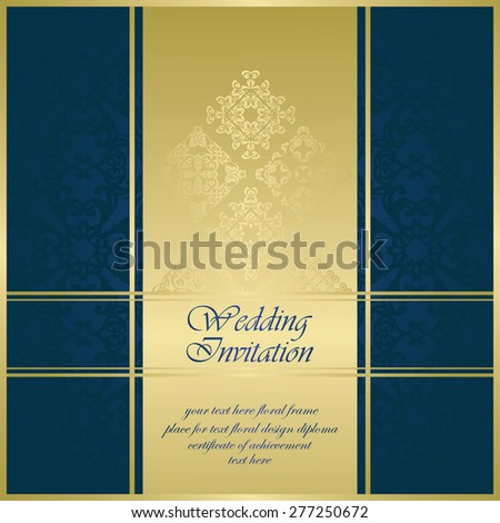 Modern invitation frame. Can be used as stylish wedding invitation          - stock vector