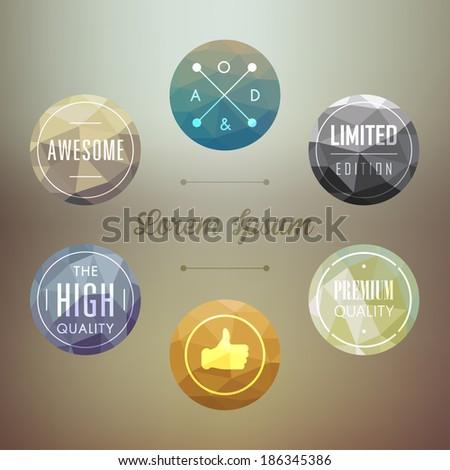 modern labels design - stock vector