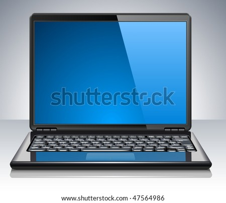Modern laptop. Vector Illustration - stock vector