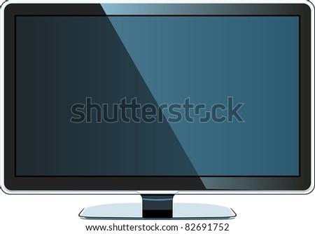 Modern LCD monitor - stock vector