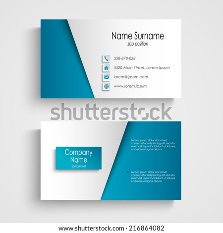 Modern light blue business card template stock vector royalty free modern light blue business card template wajeb Choice Image