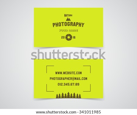 Modern light business card template nature stock vector royalty modern light business card template for nature photography studio unusual design corporate brand identity reheart Images