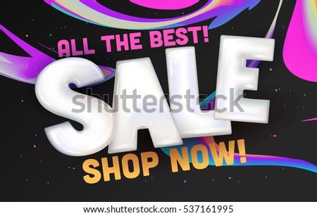 Line Art Media Design : Modern line art website sale banner stock vector