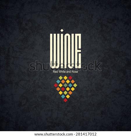 Modern logotype for wine shop, winery, wine list, restaurant - stock vector