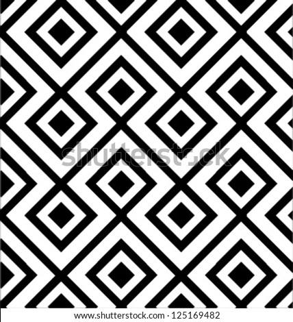 MODERN LOZENGE SHAPED GEOMETRIC PATTERN. Editable repeatable geometric pattern. - stock vector