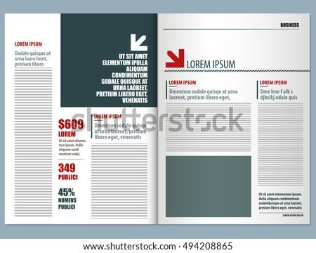 Modern Magazine Template Stock-Vektorgrafik (Lizenzfrei) 494208865 ...