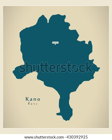 Modern Map Kano Ng Stock Photo Photo Vector Illustration