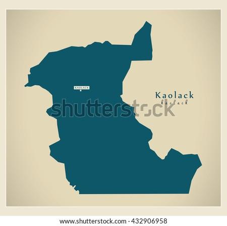 Modern Map Kaolack Sn Stock Vector 432906958 Shutterstock