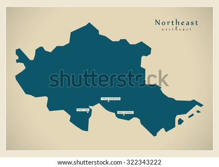 Modern Map - Northeast VN
