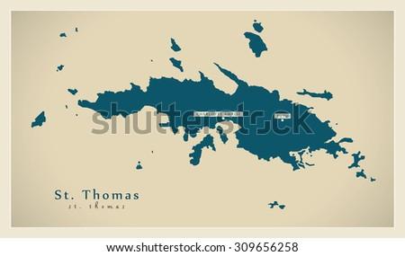 modern map saint thomas vi stock vector 309656258 shutterstock