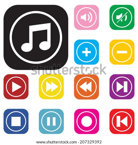 Modern media icons , vector for use. - stock vector