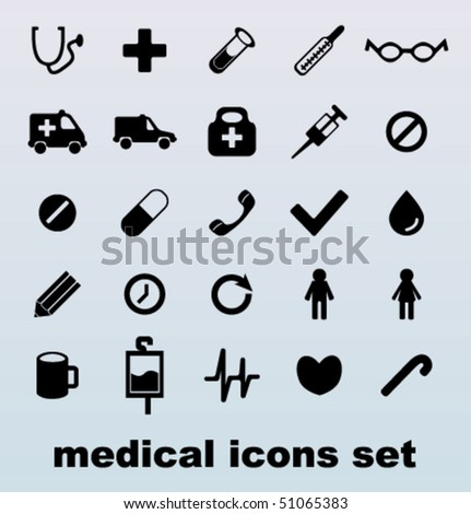 Modern medical icons set - stock vector