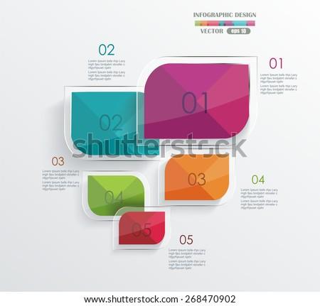 Modern minimalistic infographics banner. Vector illustration  - stock vector