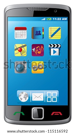 Modern mobile phone - stock vector