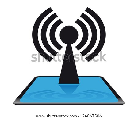 Modern net icon - stock vector