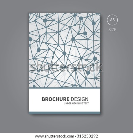 Modern network concept for book or brochure cover / Vector brochure flyer design template