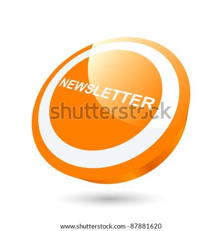 modern newsletter sign - stock vector