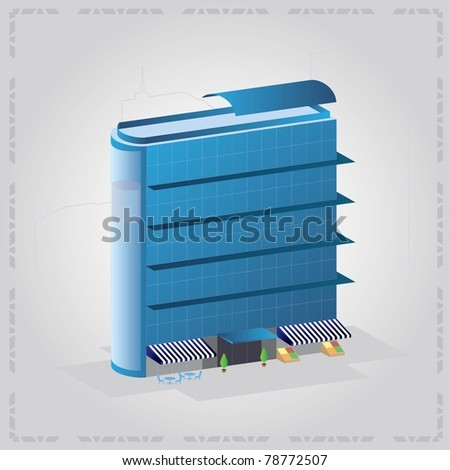 Modern office building - stock vector