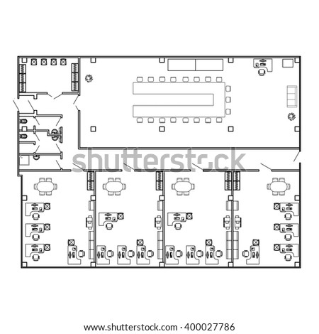 Office blueprints stock images royalty free images vectors modern office interior with furniture vector blueprint architectural background malvernweather Choice Image