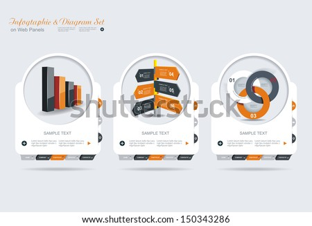 Modern options banner. Can be used for workflow layout, diagram, number options, step up options, web design, infographics.  - stock vector