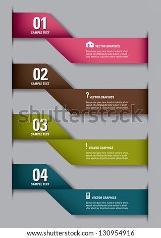 Modern options banner. Vector illustration. Eps 10. - stock vector
