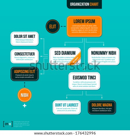 modern organizational chart template on turquoise stock vector 175556072 shutterstock. Black Bedroom Furniture Sets. Home Design Ideas