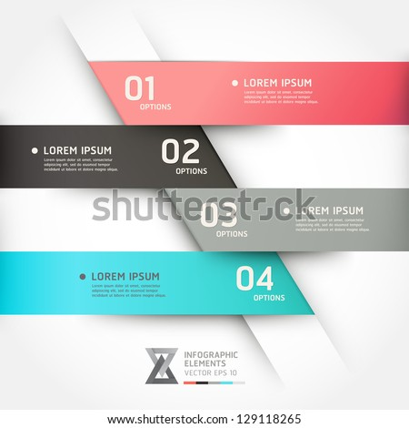 Modern origami style options banner. Vector illustration. can be used for workflow layout, diagram, number options, step up options, web design, infographics.