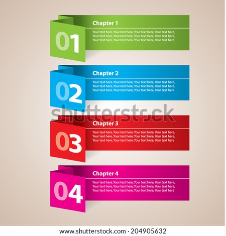 Modern paper stripes diagram business. Vector illustration. Can be used for workflow layout, banner, number options, step up options, web design, infographics.