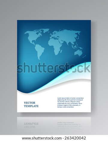 Modern paper template for flyers, corporate brochures, book covers, layouts, presentations etc. Vector eps10 illustration  - stock vector
