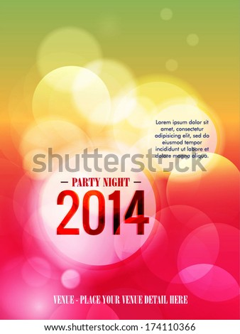 Modern party flyer 2014. - stock vector