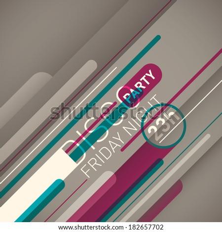 Modern party invitation card. Vector illustration. - stock vector
