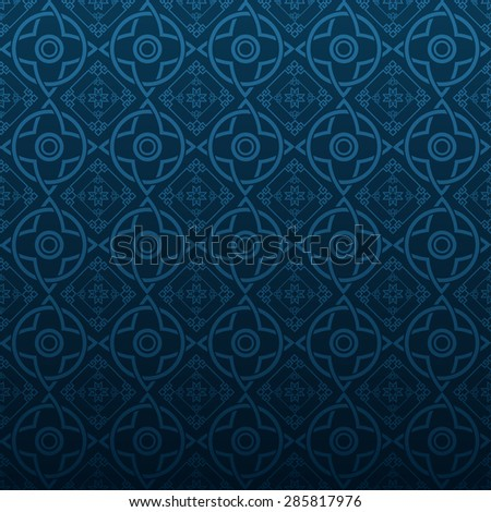 Modern pattern Chinese stylish texture geometric tiles wallpaper pattern background in retro style for your design placard book cover design poster invitation wallpaper for wall vector illustration - stock vector