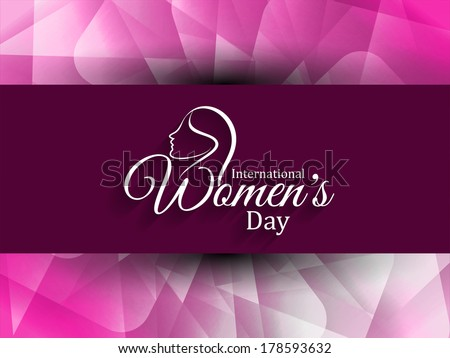 Modern pink color background with elegant white color design element for women's day. vector illustration - stock vector