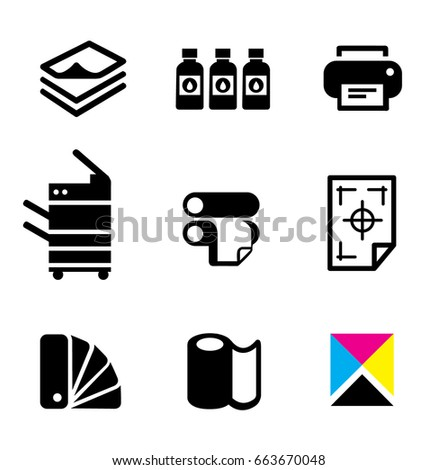 Modern Print Shop Digital Printing Icon Stock Vector ...