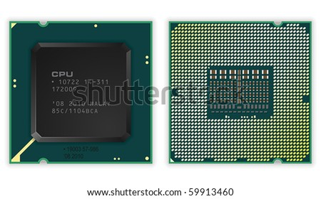 Modern processors - stock vector
