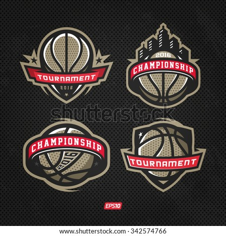 Modern professional logo for basketball game events - stock vector