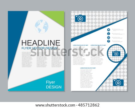 design twopage flyer narrow templates banners stock vector